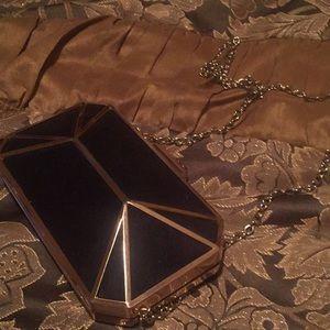 Handbags - Black velvet shoulder purse